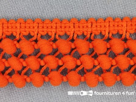 Mini bolletjesband 24mm donker oranje