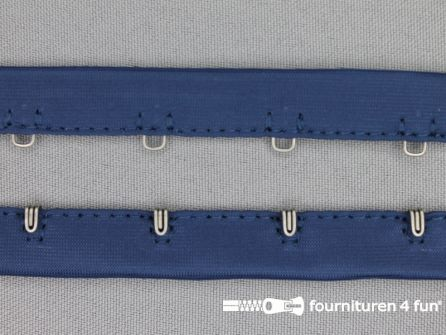 Haken- en ogen band 14mm blauw