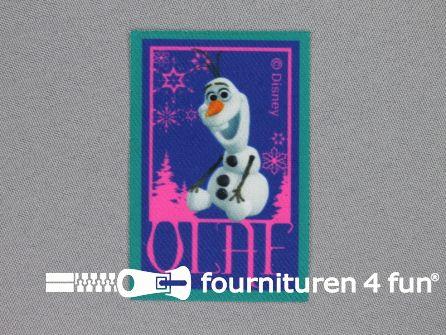 Disney Frozen applicatie 72x48mm Olaf