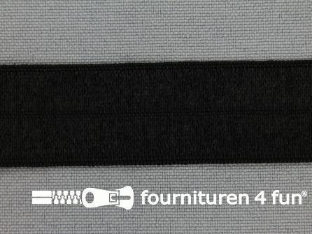Elastische biasband 20mm zwart