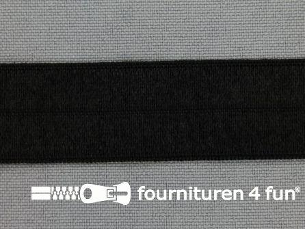 Rol 100 meter elastische biasband 20mm zwart