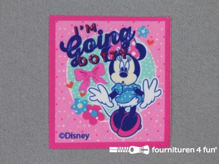 Mickey Mouse applicatie 60x55mm Minnie Mouse