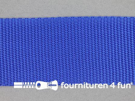 Parachute band 50mm kobalt blauw