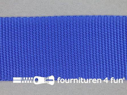 Rol 30 meter parachute band 50mm kobalt blauw