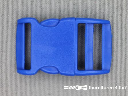 Gebogen parachute gesp budget 20mm blauw - kunststof