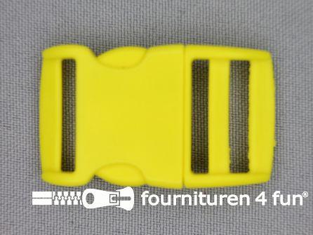 Gebogen parachute gesp budget 20mm geel - kunststof