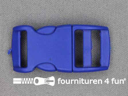 Gebogen parachute gesp budget 15mm blauw - kunststof