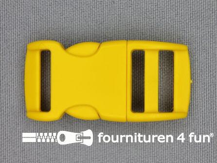 Gebogen parachute gesp budget 15mm geel - kunststof