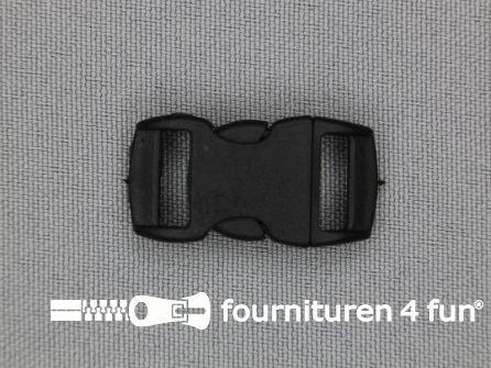 Gebogen parachute gesp budget 10mm zwart - kunststof