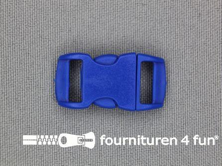Gebogen parachute gesp budget 10mm blauw - kunststof