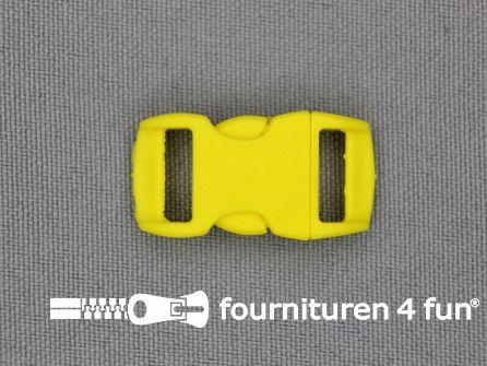 Gebogen parachute gesp budget 10mm geel - kunststof