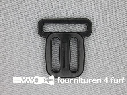 Schuifgesp 25-20-20mm zwart gesloten model
