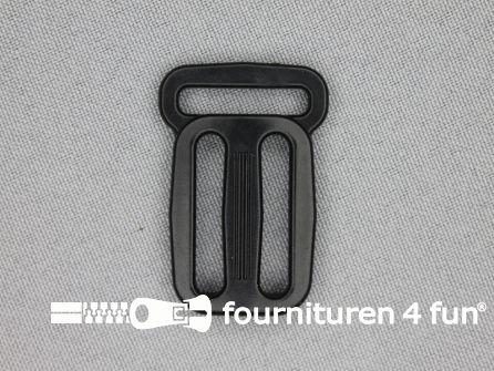 Schuifgesp 20-25-25mm zwart gesloten model