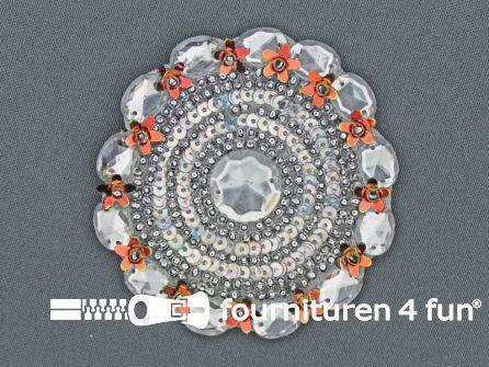 Broche 80-85mm zilver