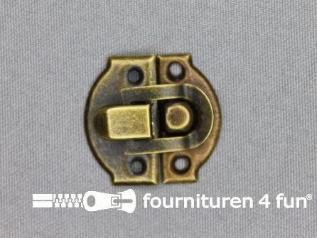 Koffer sluiting 30x27mm brons