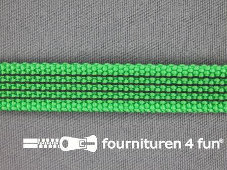 Rubber halsband 15mm groen / grijs