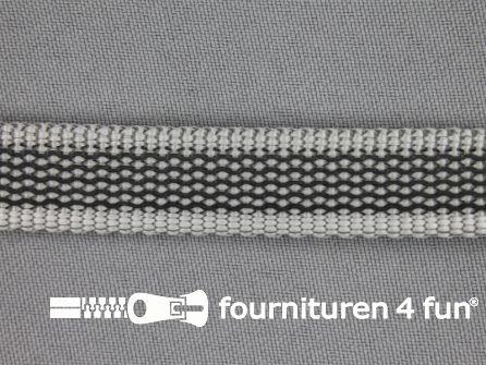 Rubber halsband 15mm grijs