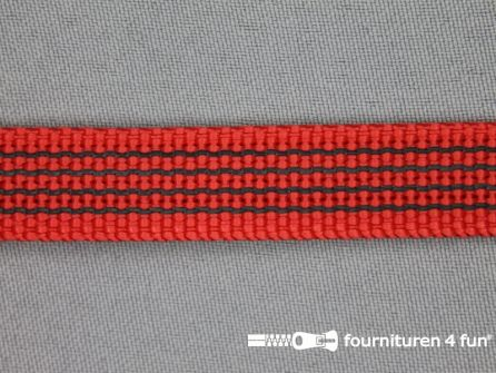 Rubber halsband 15mm rood