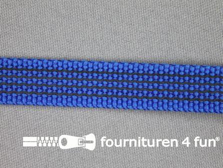 Rubber halsband 15mm koren blauw