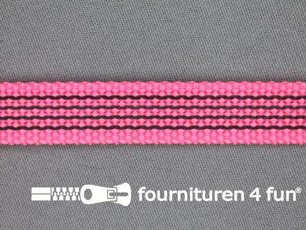Rubber halsband 15mm fel roze