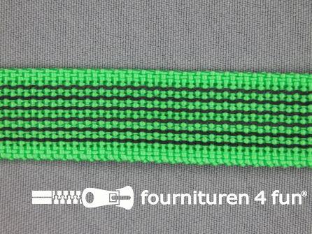 Rubber halsband 20mm groen / grijs