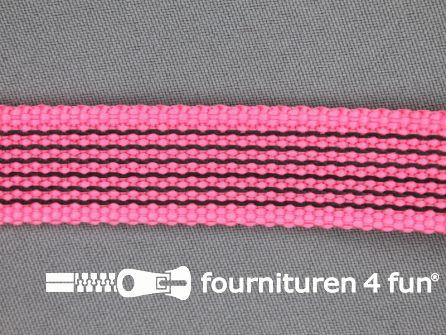 Rubber halsband 20mm fel roze