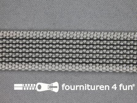 Rubber halsband 20mm grijs