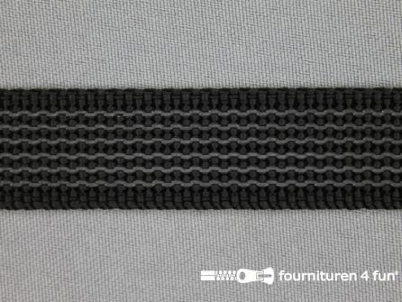 Rubber halsband 20mm zwart