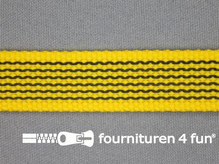 Rubber halsband 20mm geel