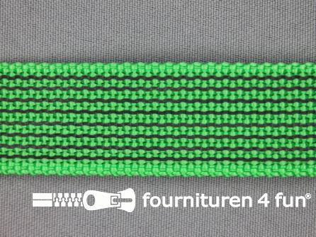 Rubber halsband 25mm groen / grijs