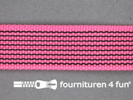 Rubber halsband 25mm fel roze