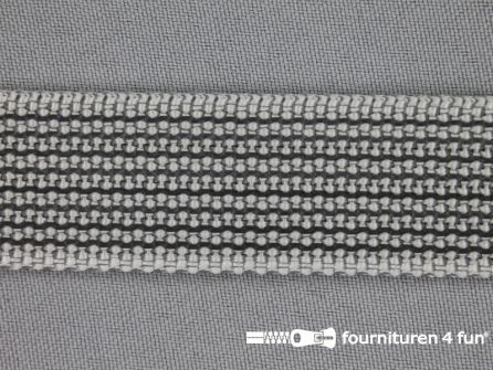 Rubber halsband 25mm grijs