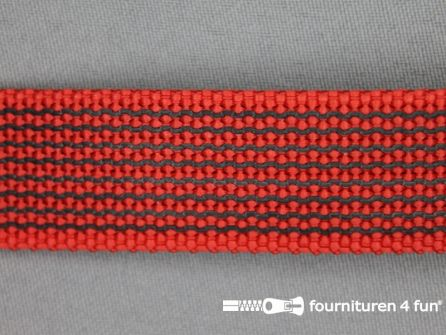 Rubber halsband 25mm rood