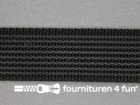 Rubber halsband 25mm zwart