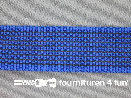Rubber halsband 25mm koren blauw