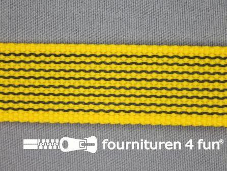 Rubber halsband 25mm geel