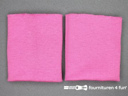 Manchetten fijn geweven barbie roze