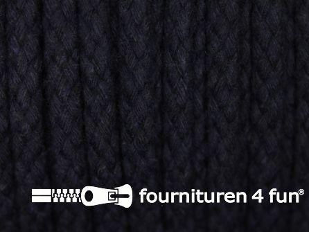 Katoenen koord grof 6mm marine blauw