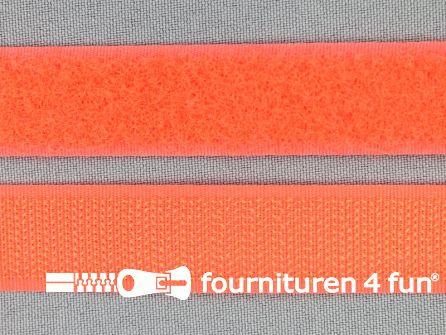 Klittenband 20mm neon oranje