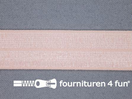 Elastische biasband 20mm licht zalm roze