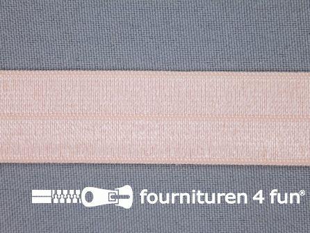 Rol 25 meter elastische biasband 20mm licht zalm roze