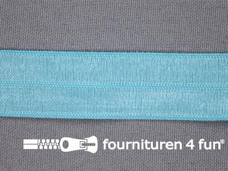 Elastische biasband 20mm aqua mint blauw