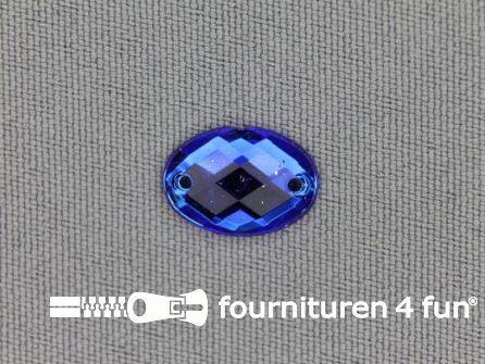 10 stuks Strass stenen ovaal 10x14mm kobalt blauw
