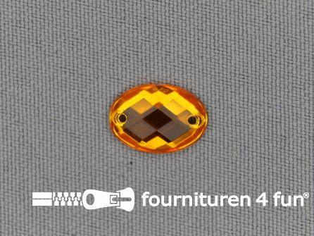 10 stuks Strass stenen ovaal 10x14mm goud geel