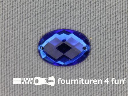 10 stuks Strass stenen ovaal 18x13mm kobalt blauw