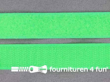 Klittenband 20mm neon groen