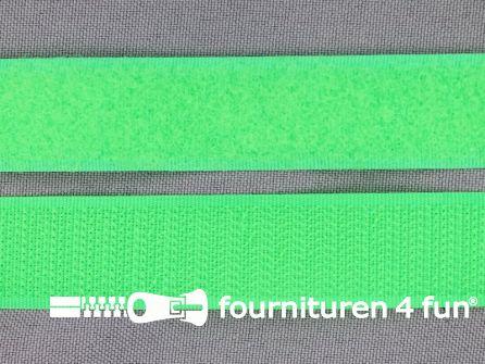 Rol 25 meter klittenband 20mm neon groen