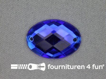 10 stuks Strass stenen ovaal 25x18mm kobalt blauw
