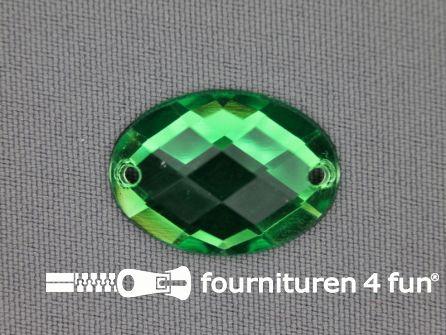 10 stuks Strass stenen ovaal 25x18mm gras groen
