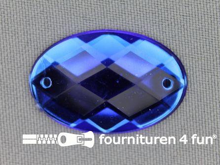 5 stuks Strass stenen ovaal 30x20mm kobalt blauw
